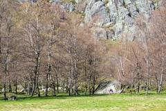 Covao d'ametade in the Serra da Estrela Natural Park. Portugal Stock Photos