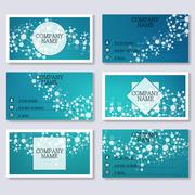 Set template of modern business visiting cards. Abstract background with - stock illustration