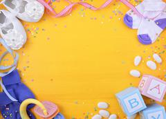 Baby Shower Nursery Background Stock Photos