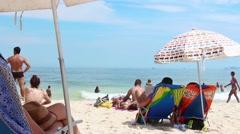 Beach vacations in Rio de Janeiro Classic Shot - 1080p Stock Footage