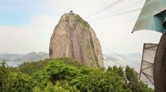Sugar Loaf Cable Car Arrival, Rio de Janeiro - 1080p Stock Footage