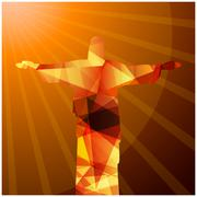 Rio de Janeiro Christ the redeemer vector art Stock Illustration