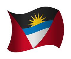 Antigua and barbuda flag waving in the wind Stock Illustration