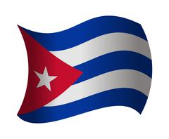 Cuba flag waving in the wind Stock Illustration