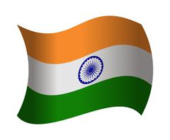 India flag waving in the wind Piirros