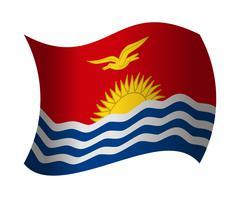Kiribati flag waving in the wind Piirros