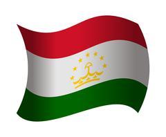 Tajikistan flag waving in the wind Stock Illustration