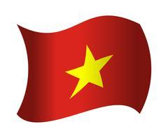 Vietnam flag waving in the wind Stock Illustration