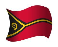Vanuatu flag waving in the wind Stock Illustration