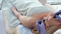 Anti-Wrinkle Treatment at Salon - stock footage