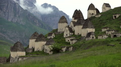 Dead town Dargavs in North Ossetia Stock Footage