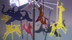 Baby's Toy Carousel Hanging Stock Footage