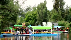 Xochimilco Canals, Mexico City. Stock Footage