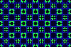 Seamless pattern on dark green background. Stock Illustration