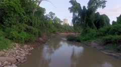 Bayou in Uptown part of Houston, Texas - stock footage