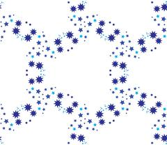 Seamless vector pattern with stars geometrical ornament Stock Illustration