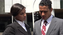 Lost  Confused Business Man  Helpful Woman Stock Footage