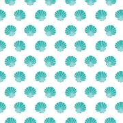 Shell. Flat pattern Stock Illustration