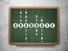 Studying concept: Graduate in Crossword Puzzle Stock Illustration