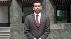 Business Man Waiting Impatiently Stock Footage