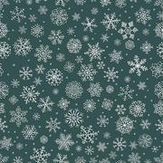 Vector White Winter Snow Flakes Seamless Background Pattern Stock Illustration