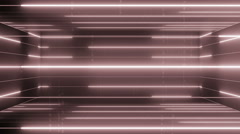 3d active matrix flowing lines and articles LOOP 4K Pale red Stock Footage