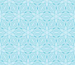 Abstract seamless illustration of the flower theme in blue tones Stock Illustration
