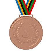 Bronze Olympic Medals- 3D illustration - stock illustration