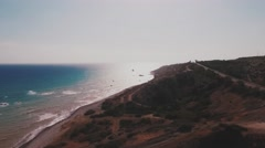 Aerial view of Cyprus Stock Footage