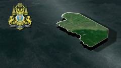 Pailin with Coat Of Arms Animation Map Stock Footage