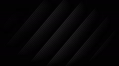 White Diagonal Stripes with black background. Seamless loop Stock Footage