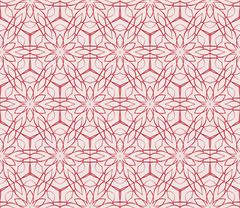 Illustration in pink tones with the image of abstract flowers Stock Illustration