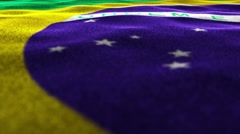 BRAZIL Flag, Textile Carpet Background, Still Camera, Loop, 4k Stock Footage