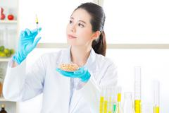 Do you have the courage to try genetic modification food Stock Photos