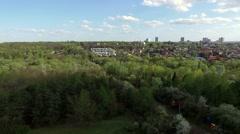 Kharkiv city center with Gorky park Stock Footage