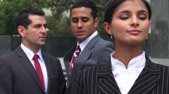 Men Dislike  Criticize Female Coworker Stock Footage