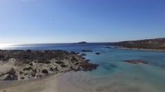 Elafonisi Beach - Greece Drone Shot  - 2.7 K Video Stock Footage