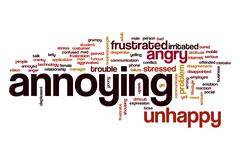 Annoying word cloud concept Stock Illustration