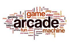 Arcade word cloud concept Stock Illustration