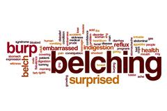 Belching word cloud concept Stock Illustration