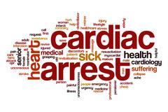 Cardiac arrest word cloud concept Stock Illustration