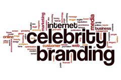 Celebrity branding word cloud concept Stock Illustration