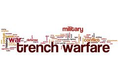 Trench warfare word cloud concept Stock Illustration