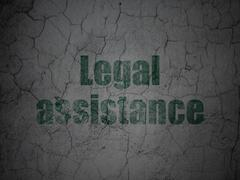 Law concept: Legal Assistance on grunge wall background - stock illustration