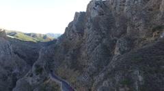 Topolia gorge Crete Greece - Drone shot- 2.7 K Stock Footage