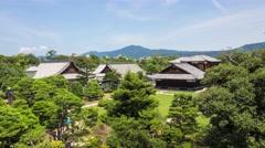 KYOTO: Nijo castle timelapse Stock Footage