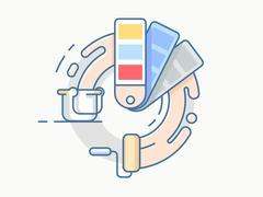 Color palette line design Stock Illustration