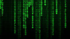 The Matrix falling text chinese Stock Footage