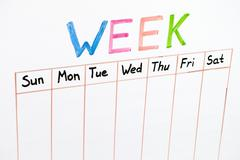Seven days of the week Stock Photos