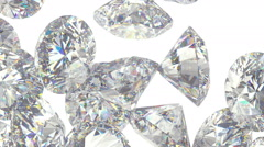 Diamonds or gems scatter with slow motion alpha Stock Footage